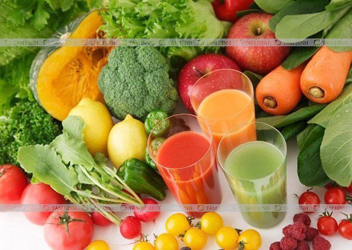 Bổ sung rau xanh, hoa quả tươi cho người bị gan nhiễm mỡ