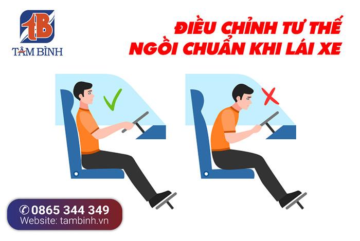 điều chỉnh tư thế ngồi tránh đau lưng khi lái xe