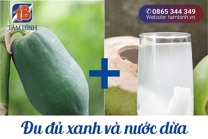 Đu đủ xanh và nước dừa chữa gout