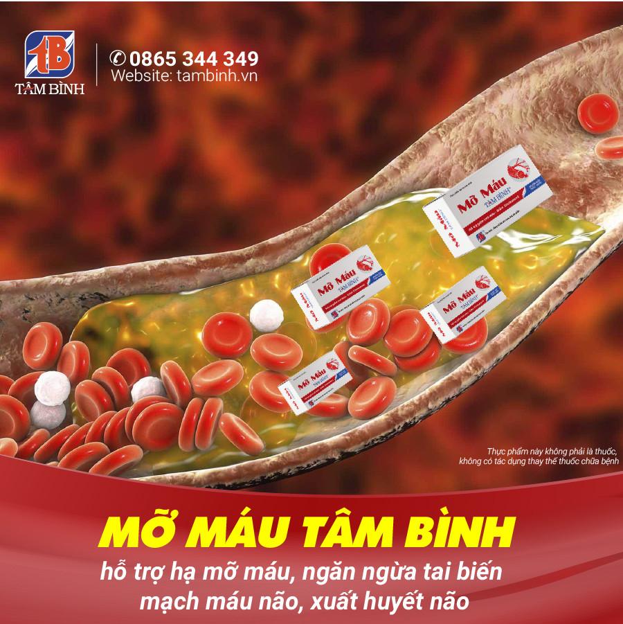 Mỡ máu Tâm Bình - Sản phẩm hỗ trợ hạ mỡ máu, ngăn ngừa biến chứng nguy hiểm