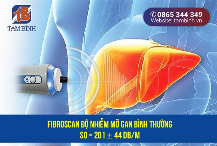chỉ số fibroscan gan nhiễm mỡ bình thường