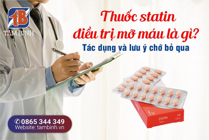 Thuốc statin điều trị mỡ máu