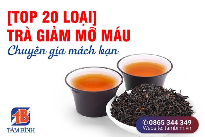 trà giảm mỡ máu