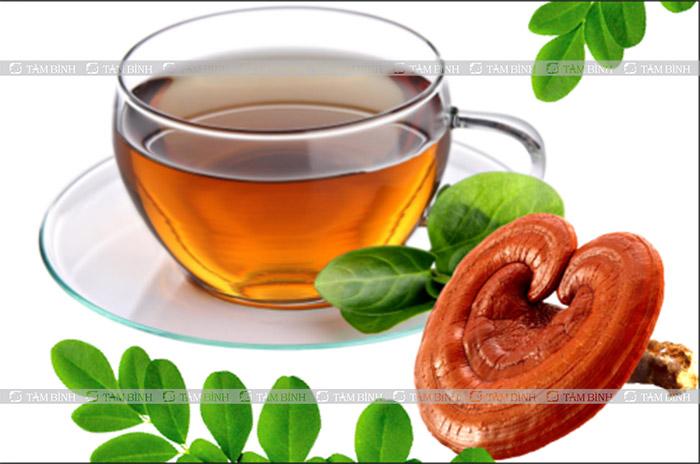 trà nấm linh chi giảm mỡ máu