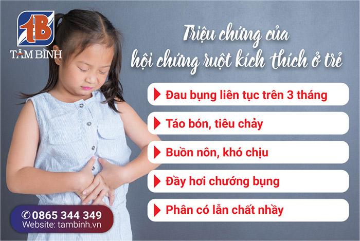 triệu chứng hội chứng ruột kích thích ở trẻ em