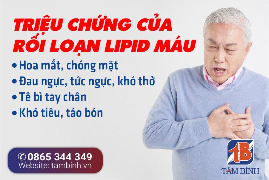 Triệu chứng rối loạn lipid máu