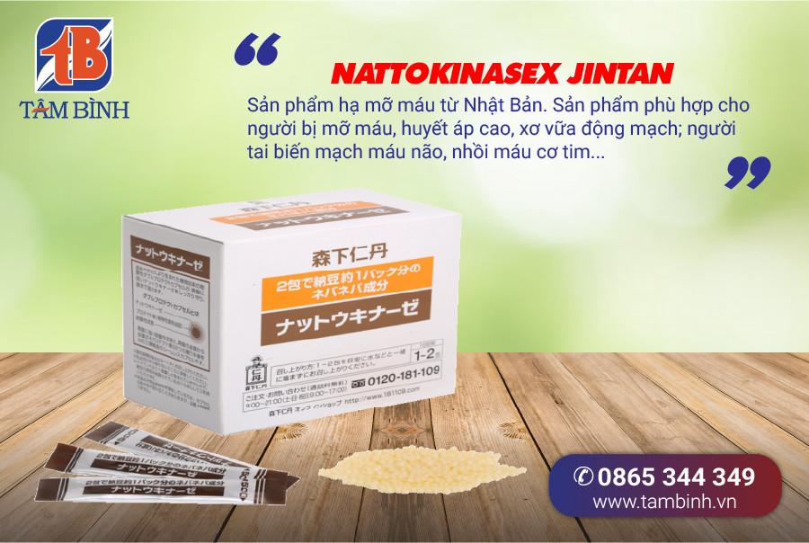 Nattokinasex Jinta - Thực phẩm chức năng hạ mỡ máu của Nhật