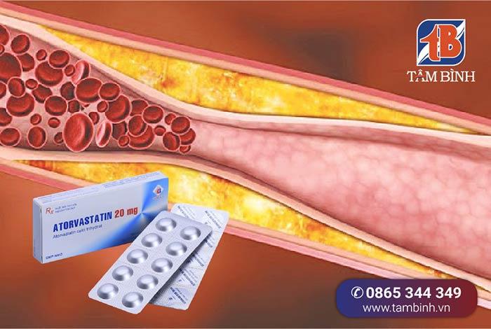 atorvastatin giúp hạ mỡ máu