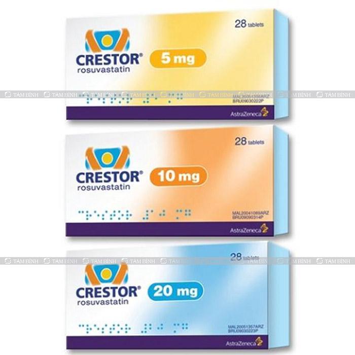 giá bán của hàm lượng thuốc Crestor