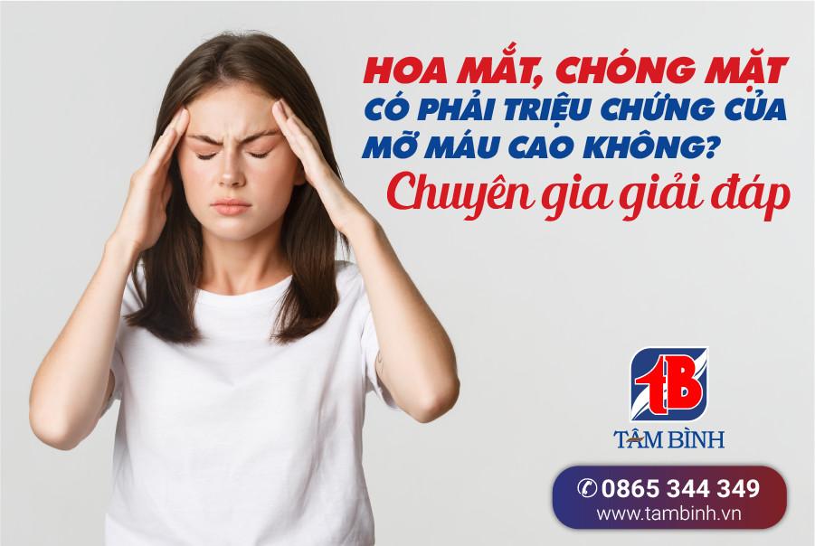 Hoa mắt, chóng mặt có phải triệu chứng của mỡ máu cao