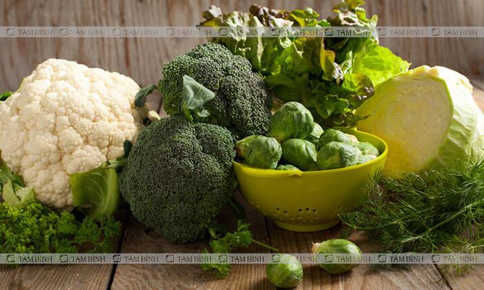 người bị gan nhiễm mỡ nên ăn các loại rau xanh