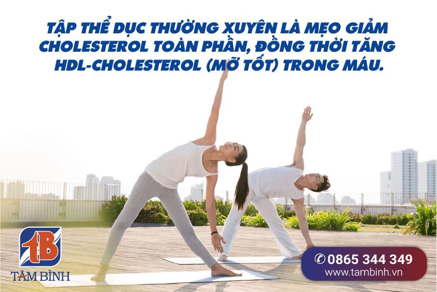 Tập thể dục thường xuyên tăng HDL-Cholesterol