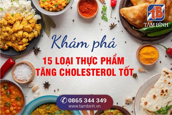15 thực phẩm tăng cholesterol tốt