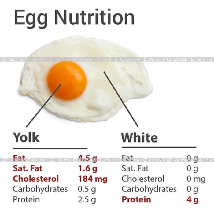 giá trị dinh dưỡng của trứng