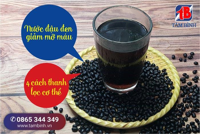 Nước đậu đen giảm mỡ máu
