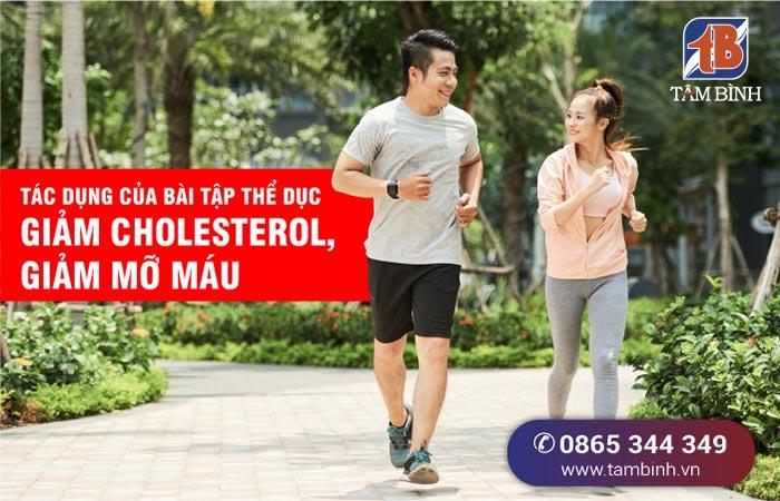 Tác dụng của bài tập thể dục giảm cholesterol, giảm mỡ máu