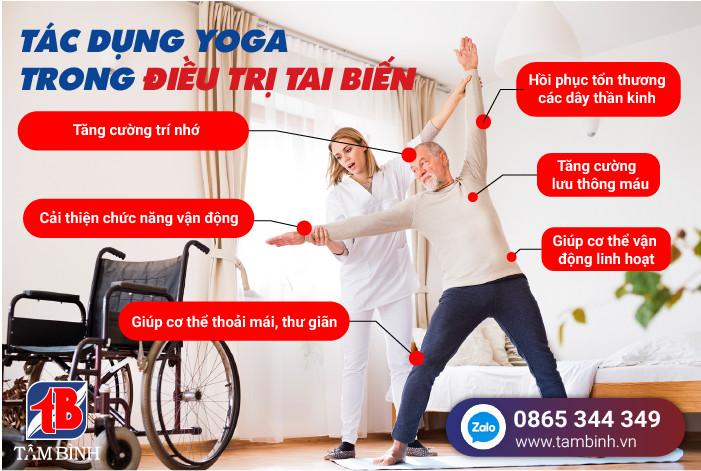 Tác dụng của Yoga trong điều trị tai biến