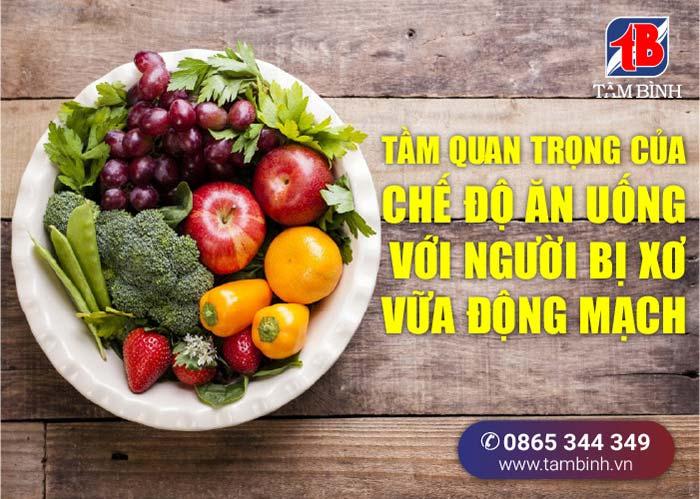 tầm quan trọng của chế độ ăn uống với người xơ vữa động mạch