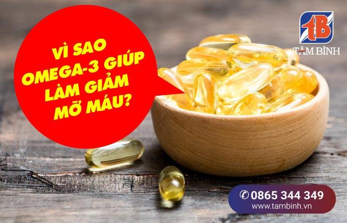 vì sao omega-3 giúp giảm mỡ máu