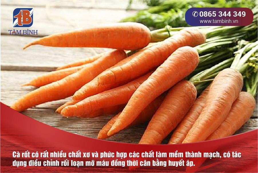 huyết áp cao nên ăn cà rốt