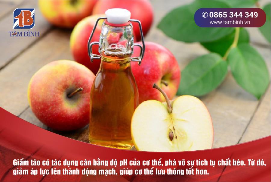 Huyết áp cao nên dùng giấm táo