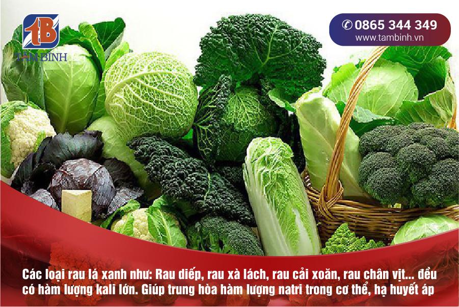 huyết áp cao nên ăn rau xanh