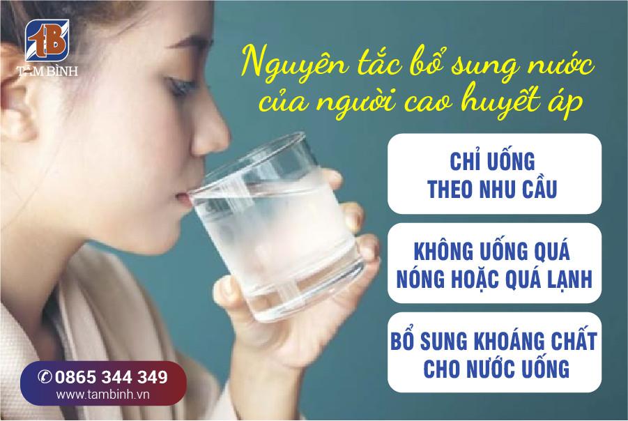 nguyên tắc uống nước ở người cao huyết áp