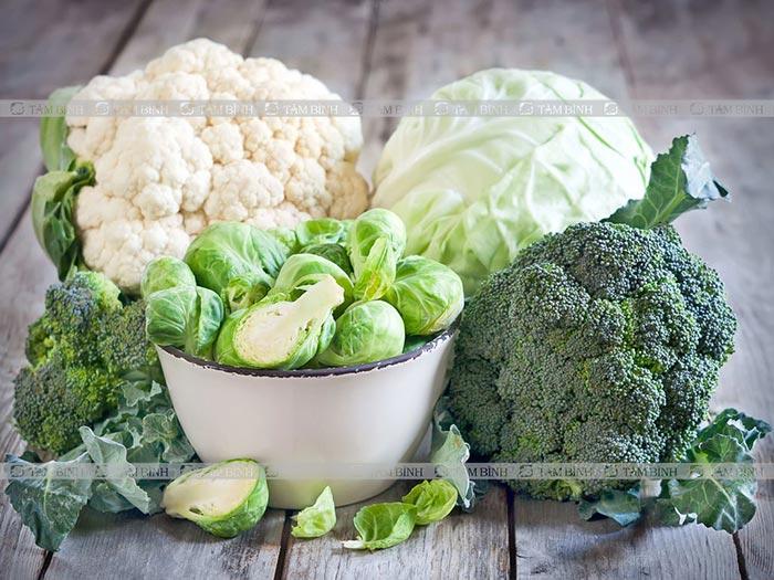 thực phẩm tốt cho gan từ rau họ cải