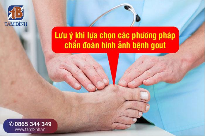 lưu ý chẩn đoán bệnh gout qua hình ảnh