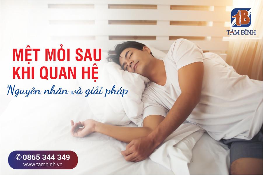 nam giới mệt mỏi sau quan hệ