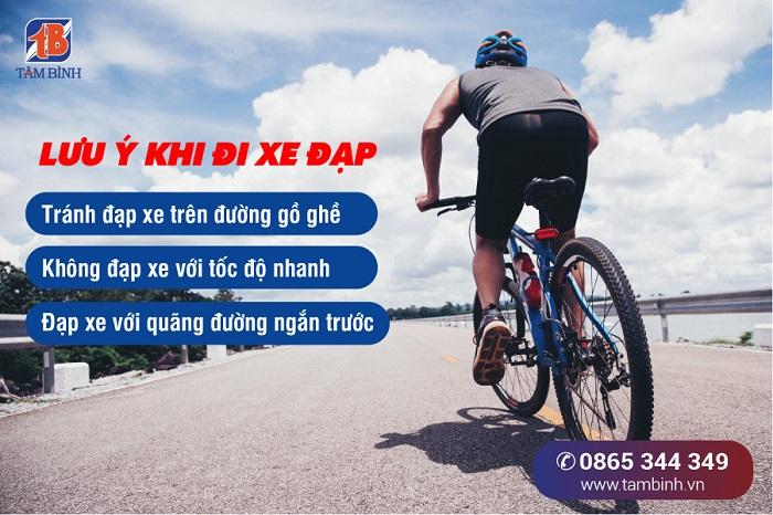 Lưu ý khi đi xe đạp ở người thoát vị đĩa đệm
